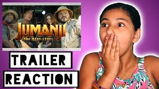 Jumanji Next Level Movie Trailer Reaction AND Giveaway Winner Announced!!
