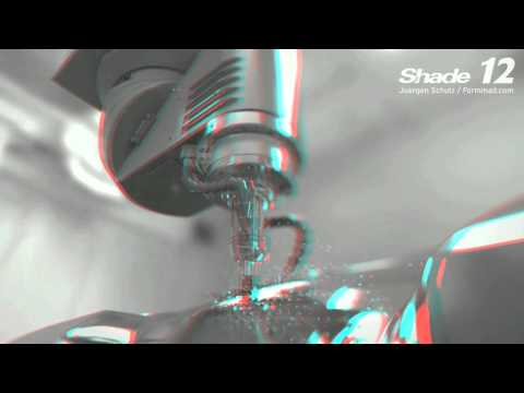3D Stereoscopy Rendering in anaglyph by using Shade 12