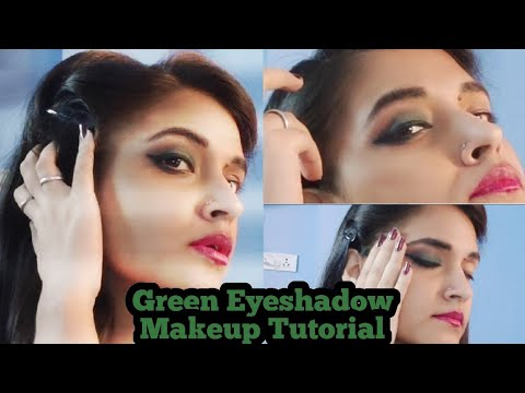 green eye makeup tutorial stepstep/beginners green eye