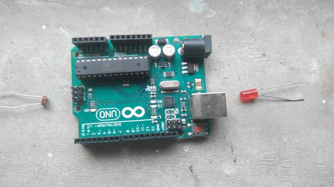 arduino tutorial with LDR and LED /make a dark sensor using LDR ...