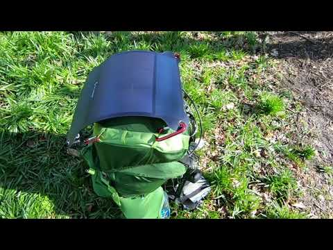 review , sunny bag leaf+ , solar panel, walking,backpacking,hiking,outdoor etc