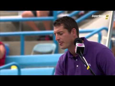 Thumbnail: Sleeping chair umpire Richard Haigh in Cincinnati