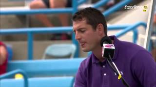 Sleeping chair umpire Richard Haigh in Cincinnati