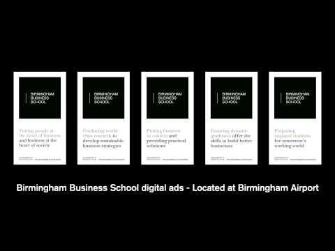 Birmingham Business School Digital Ads