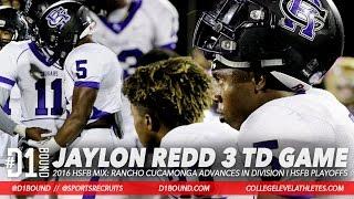 jaylon redd 3 td game oregon commit rancho cucamonga division i playoffs vs mission viejo