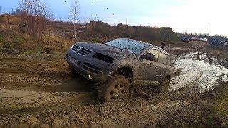 Кто лучше валит в грязи на стоке? VW Touareg, Lexus LX 470, Mitsubishi L200, Subaru Outback Offroad