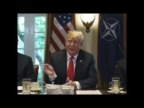 President Donald Trump SLAMS the EU on Trade at Meeting with NATO leaders at the White Hou