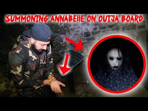 I SUMMONED ANNABELLE THE GHOST with A HAUNTED OUIJA BOARD & THIS HAPPENED TO ME!!   MOE SARGI