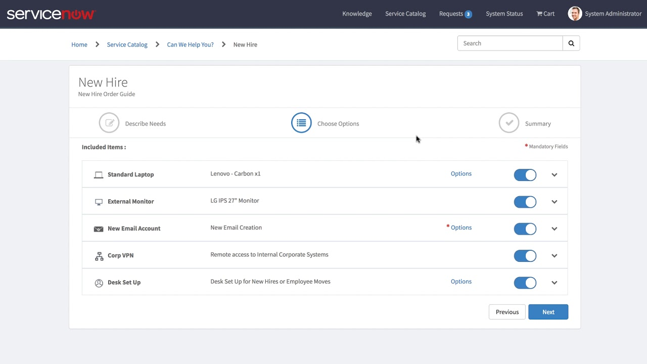 order guide service portal widget in kingston release of servicenow