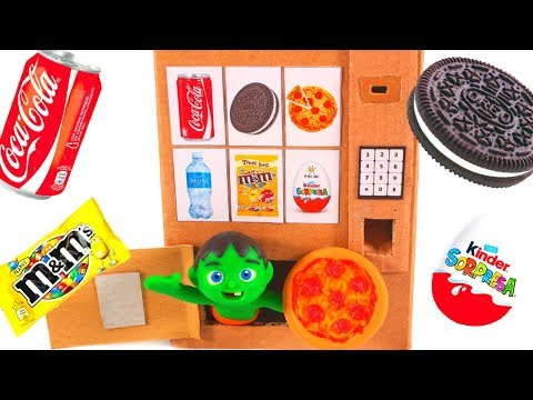 KIDS BUILD A PIZZA VENDING MACHINE 鉂� SUPERHERO PLAY DOH CARTOONS FOR KIDS
