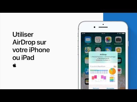 Utiliser AirDrop sur votre iPhone ou iPad - AssistanceApple
