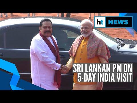 Watch: Sri Lankan PM receives ceremonial reception, meets PM Modi