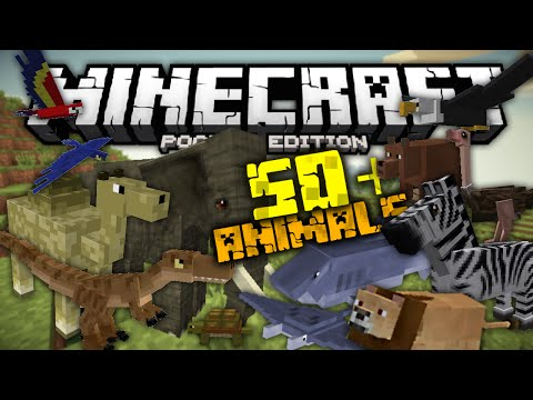 50+-new-animals-in-minecraft-pe-|-pocket-creatures-mod-|-0.12.3+