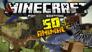 50+ New Animals In Minecraft PE | Pocket Creatures Mod | 0.12.3+