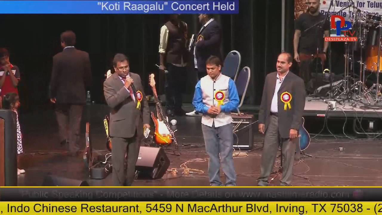 Felicitating Chair and Co-Chairs  at Telugu Bhavanam fund Raising - Houston