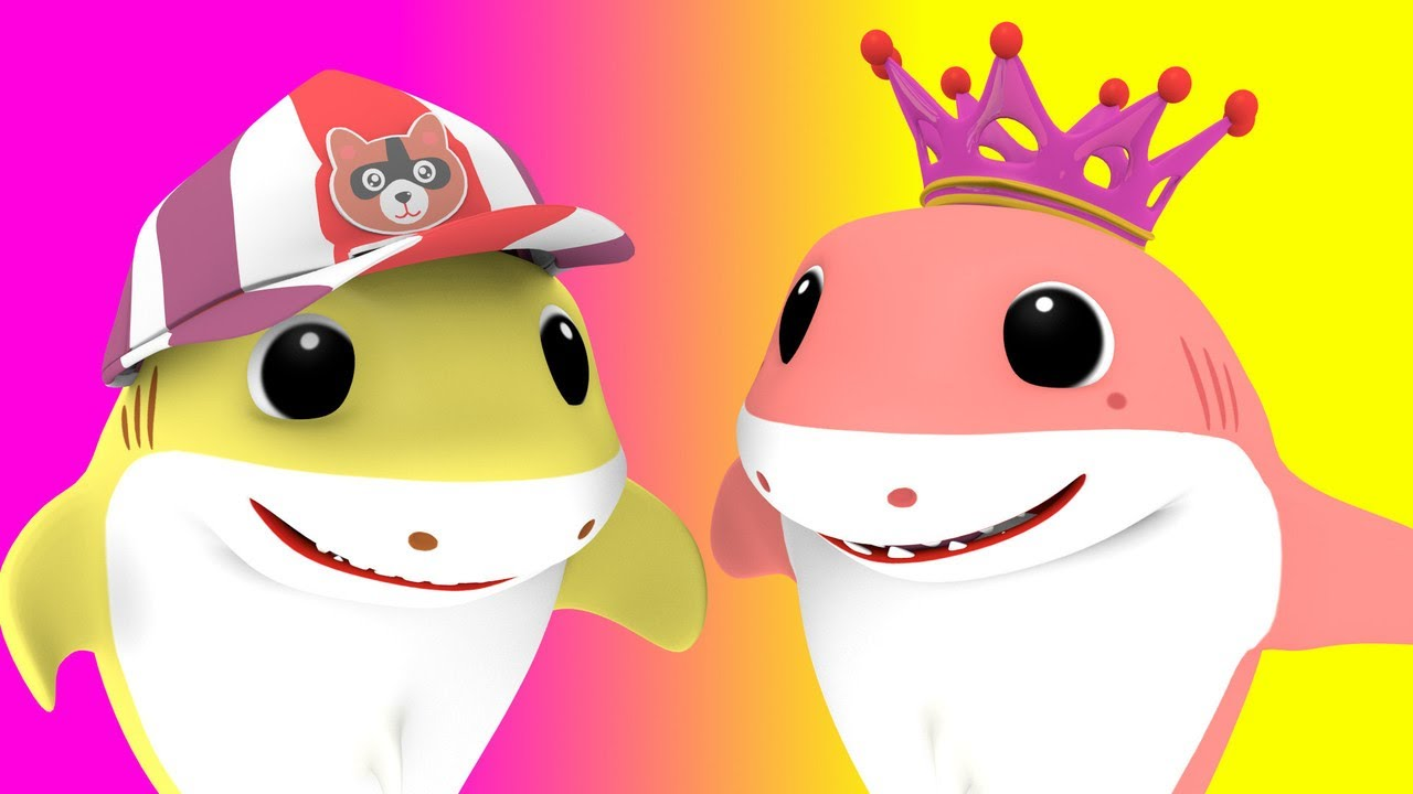 Baby Shark with - Itsy Bitsy Sharky - Nursery Rhymes Songs for Children