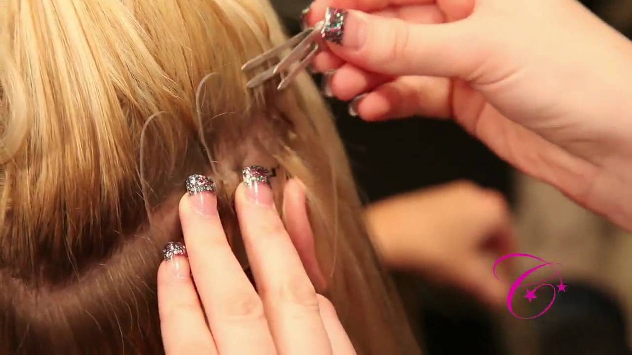 How Cinderella Hair Extensions Are Applied Youtube