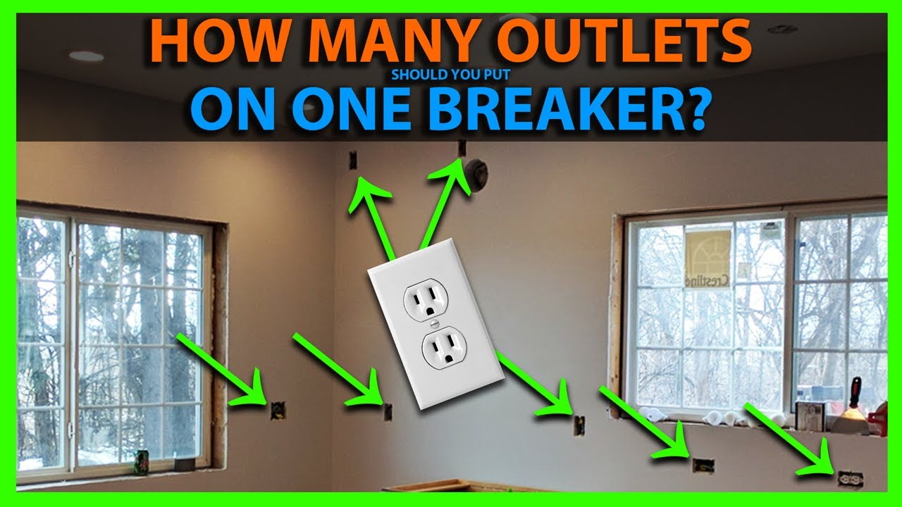 How Many Outlets On One Breaker & Room By Room Circuit Layout - YouTube