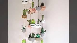 Идеи кактусов из фетра