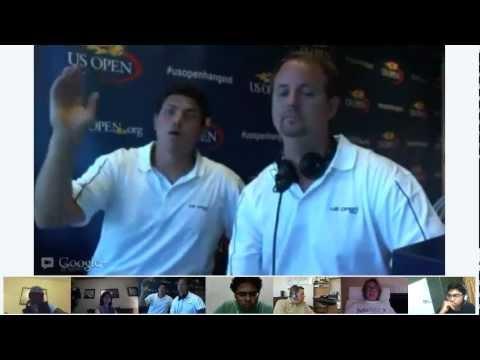 2012 US Open Women's Final Google+ Hangout On Air