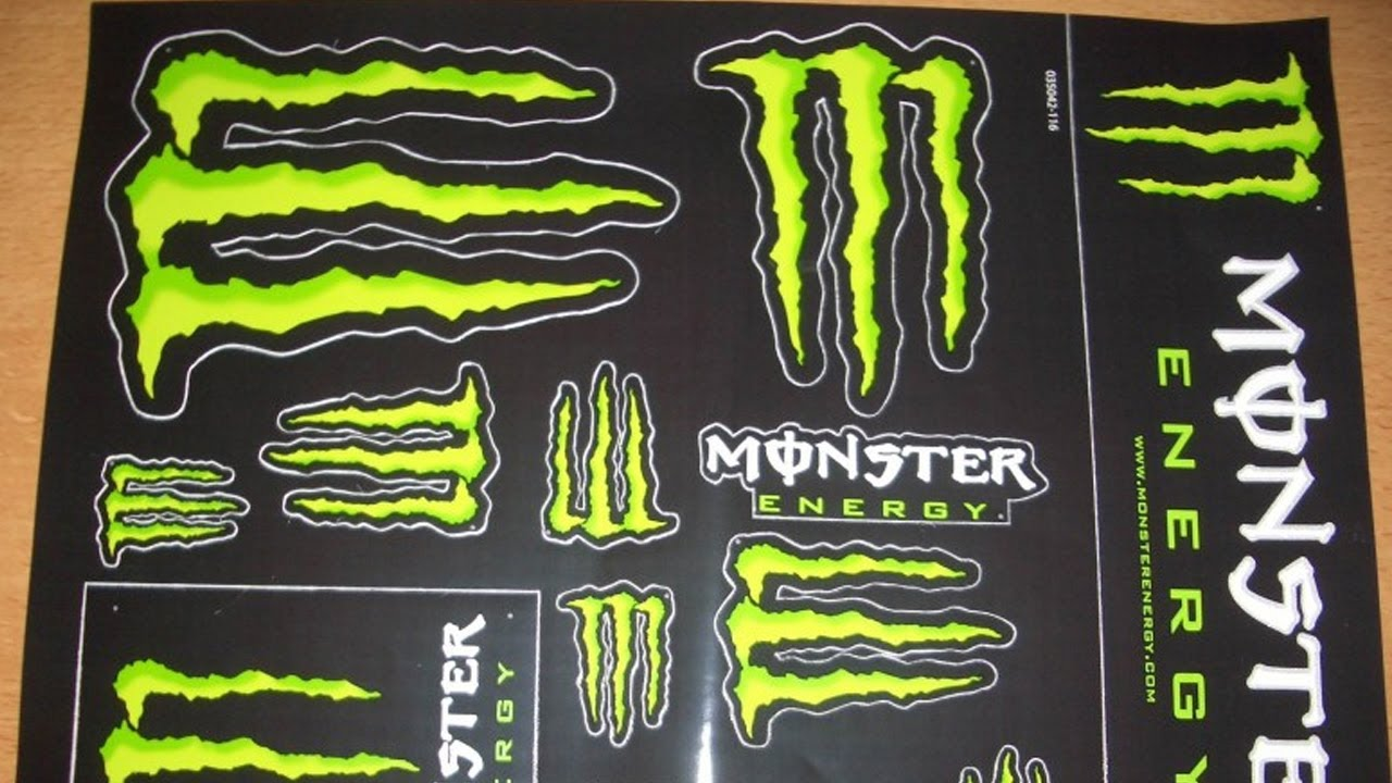how to get free monster energy stickers youtube. Black Bedroom Furniture Sets. Home Design Ideas