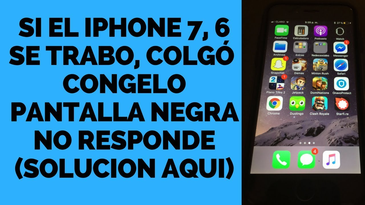Pantalla Iphone  No Responde