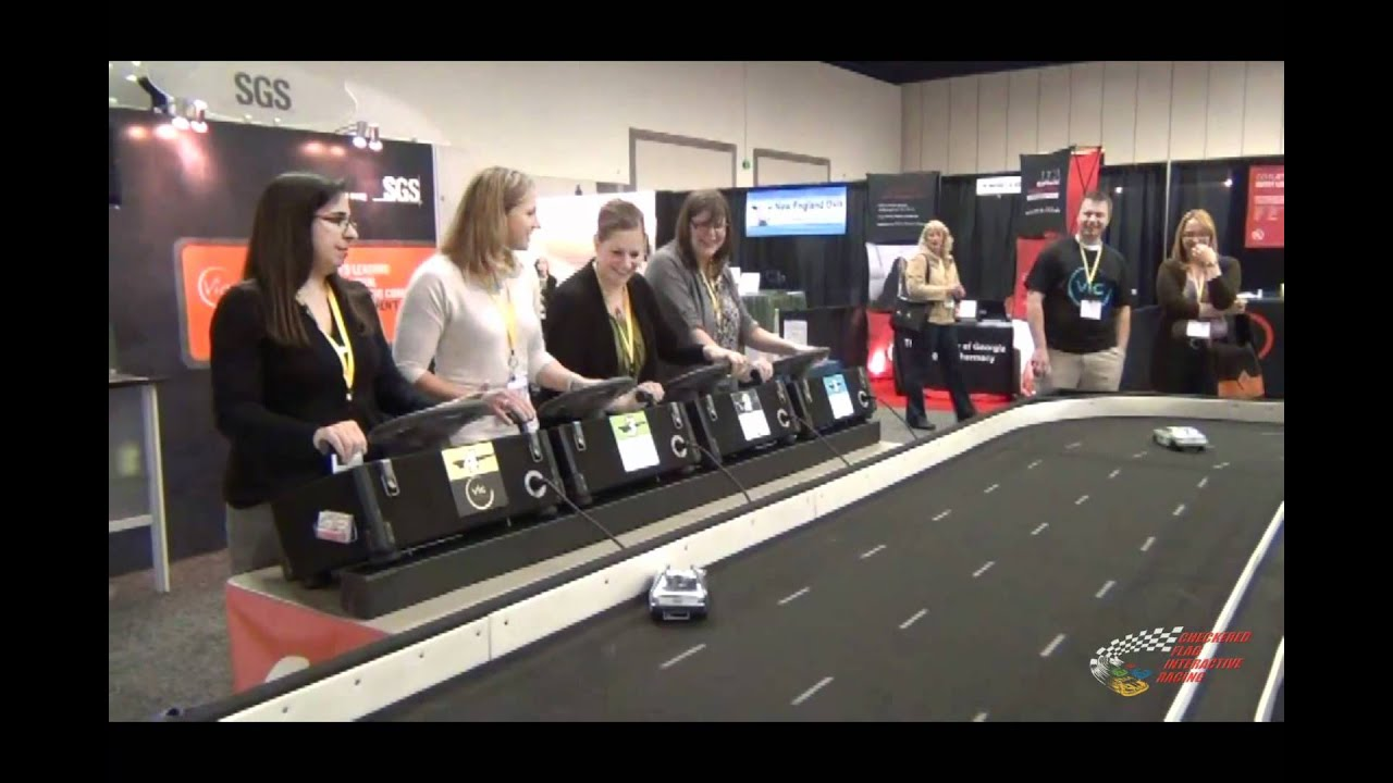 Trade Show Booth With Tv : Checkered flag interactive racing performs in a trade show