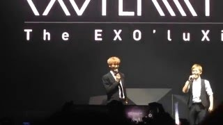 Video 160212 엑소 EXO'luXion in Vancouver - CHANYEOL/XIUMIN SPEAKING IN ENGLISH 직캠/Fancam by Lightxbyu download MP3, 3GP, MP4, WEBM, AVI, FLV Juni 2018