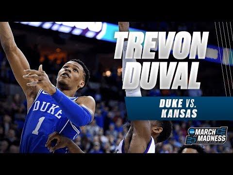 Duke\'s Trevon Duval scores 20 points in the Elite 8