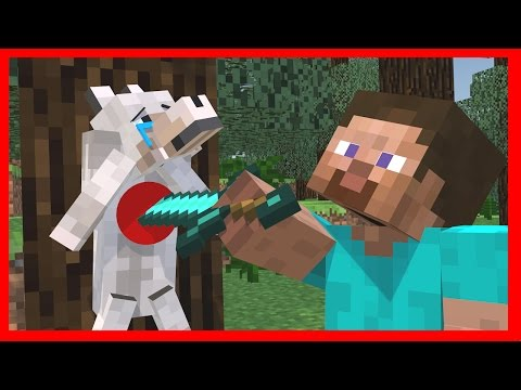 Wolf Life -  Minecraft Top 5 Life Animations - Видео из Майнкрафт (Minecraft)