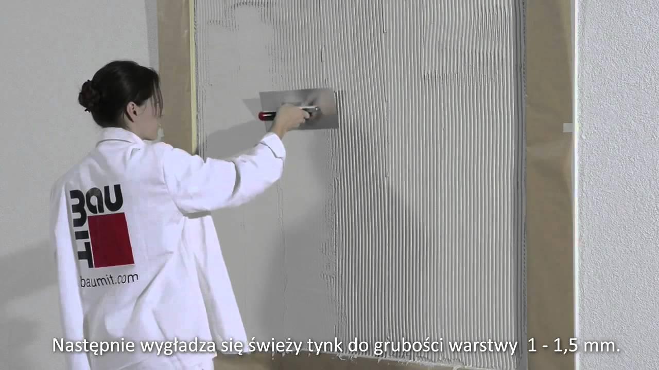 Film Instruktazowy Jak Nalozyc Tynk Technika Gladka Malowania Baumit