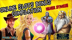 Online slots bonus compilation - Higher stakes - Book of Ra, Rise of Merlin + more