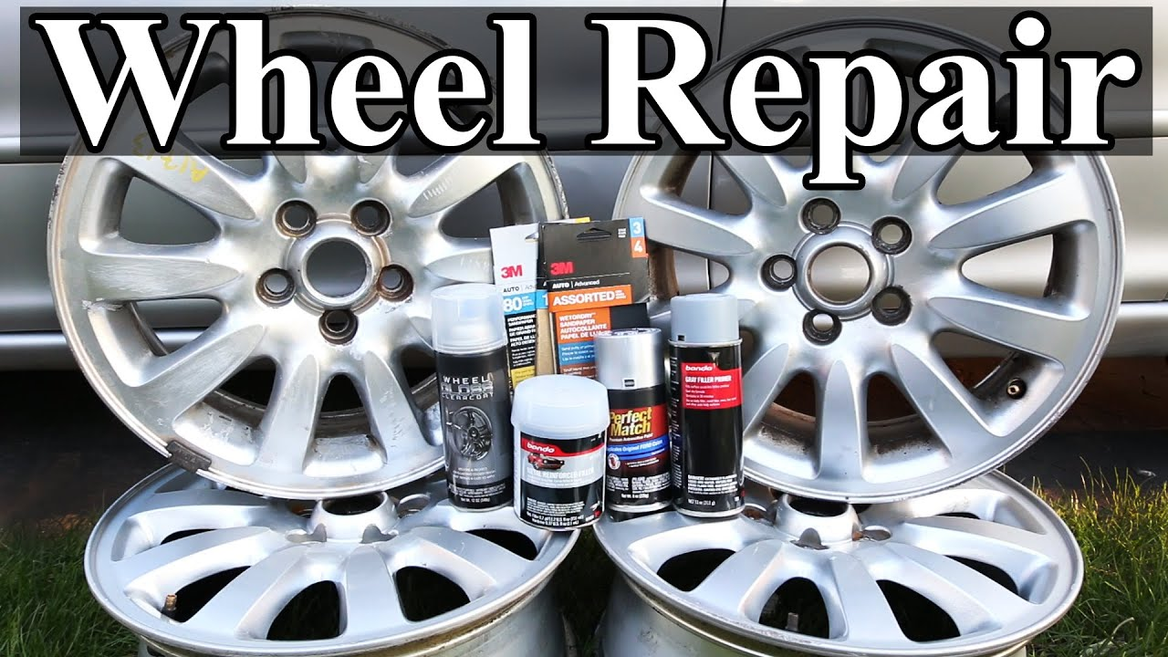 How To Repair Wheels With Curb Rash And Scratches Youtube
