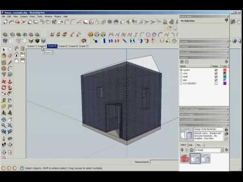 SketchUp: экспорт в 2D DWG