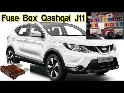 fuse box location and diagrams: nissan qashqai j11 - youtube  youtube