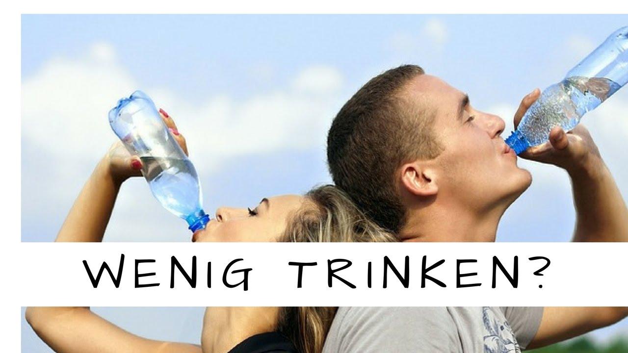 Warum wir so wenig Wasser trinken!