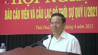 Dong chi Le Doan Hop noi chuyen tai Hoi nghi Bao cac vien