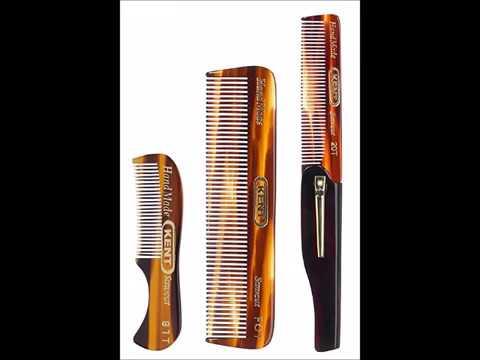 Kent Gentlemen's Comb Set 81T Beard and Moustache Comb, FOT Pocket Comb,  and 20T Folding Pocket Com