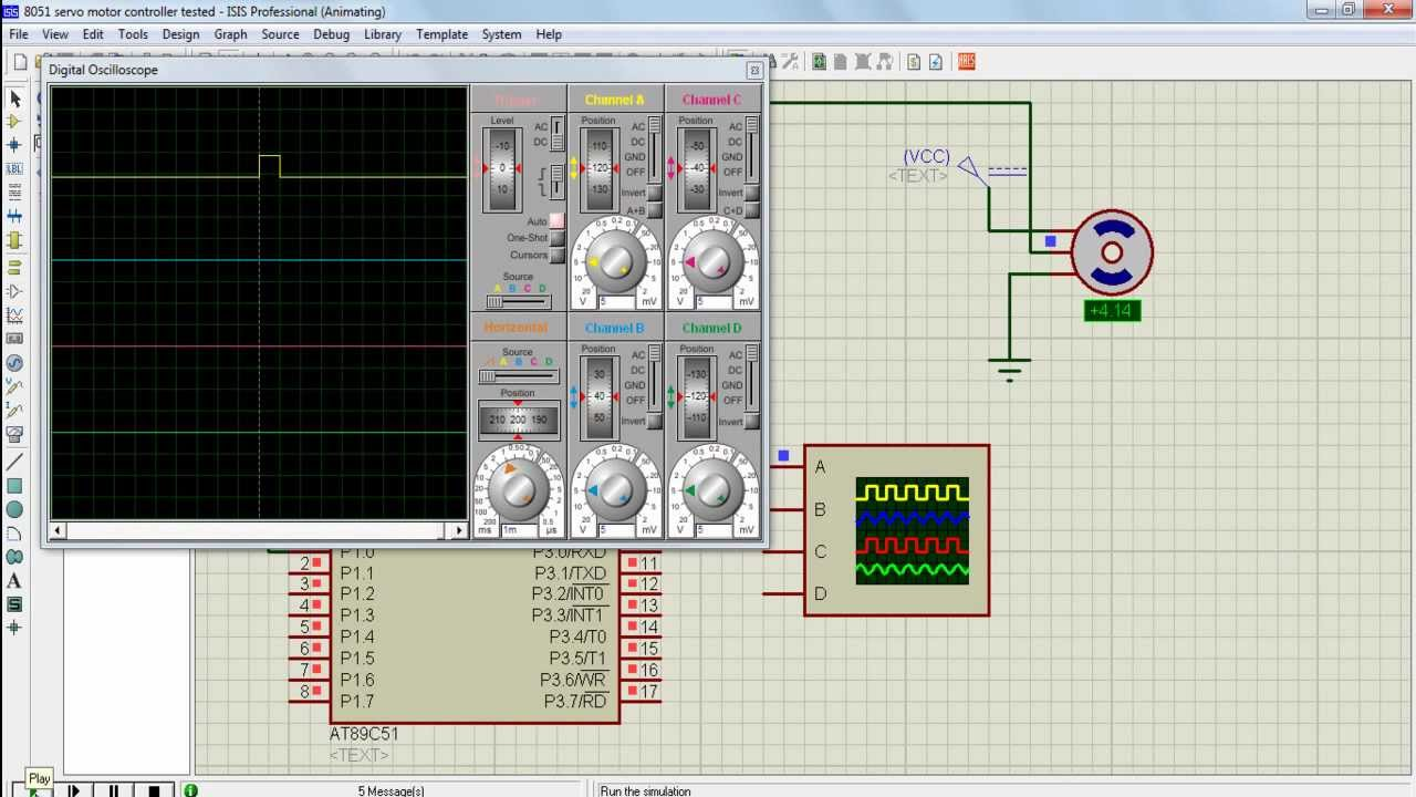 Pwm Pulse Width Modulation For Servo Motor With Keil Compiler And Proteus Youtube
