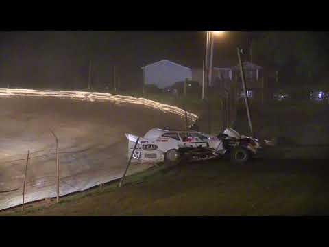 Casey Burdette Crash at Midway Speedway 8-18-2018