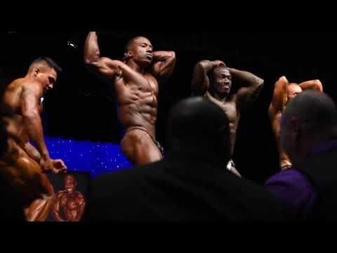 Posedown from the Mens Bodybuilding class at the 2018 WNBF PRO USA's
