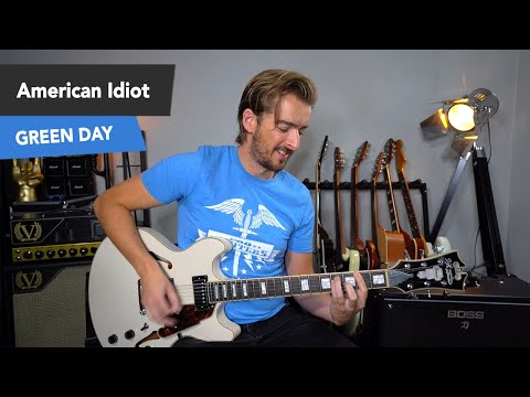 Green Day American Idiot Guitar Lesson + SOLO