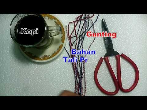 tutorial membuat gelang tali Prusik 5 menit
