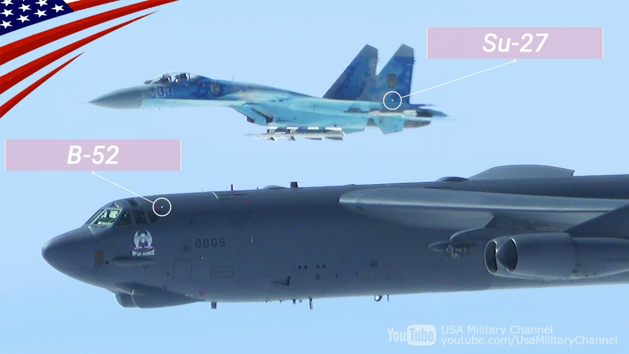 View from B-52 Bomber: Russian Jets Dangerously Buzz & NATO-Ukrainian Jets Escort (Aug-Sept 2020)
