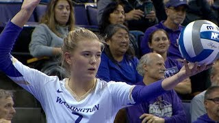 Recap: No. 13 Washington takes down No. 22 Washington State in fifth set