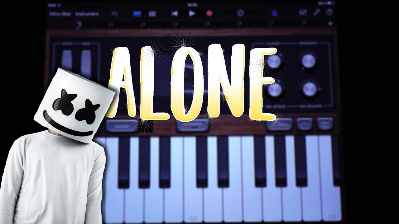 Marshmello - Alone (GARAGEBAND TUTORIAL) Chords - Chordify
