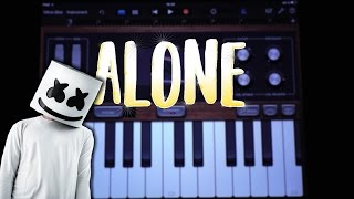 Marshmello - Alone (GARAGEBAND TUTORIAL)