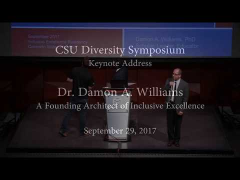Dr. Damon A. Williams at CSU's 2017 Diversity Symposium