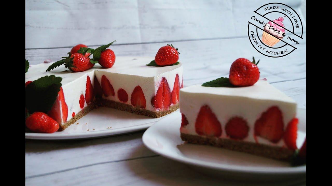 Erdbeertorte I No Bake I Ohne Backen I Kuhlschranktorte I Strawberry Cake I Erdbeerkuchen