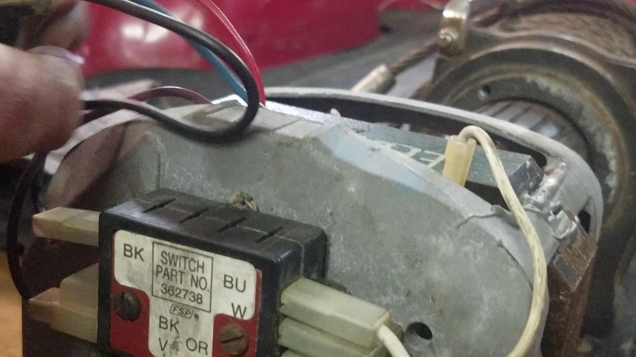 Reversing A Washing Machine Motor Model C68pxefd 3454 Youtube Wiring